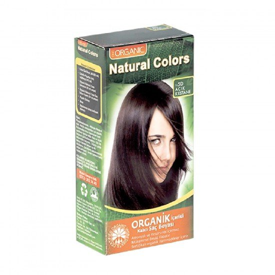 Organic Natural Colors Organic Boya 5D Açık Kestane