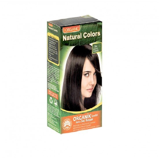 Organic Organic Natural Colors 3N Koyu Kahve Saç Boyası