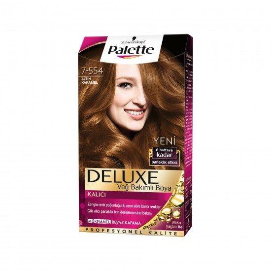 Palette Deluxe Yoğun Renkler Saç Boyası  7.554 Altın Karamel