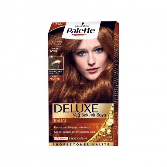 Palette Deluxe Yoğun Renkler Saç Boyası 7-57 Tarçın Kahve