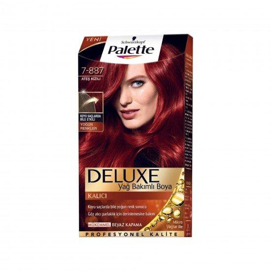 Palette Deluxe Yoğun Renkler Saç Boyası 7-887 Ateş Kızılı