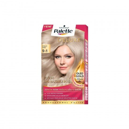 Palette Deluxe Yoğun Renkler Saç Boyası 9-1 Küllü Sarı