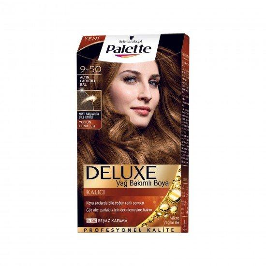 Palette Deluxe Yoğun Renkler Saç Boyası  9-50 Altın Parıltılı Bal