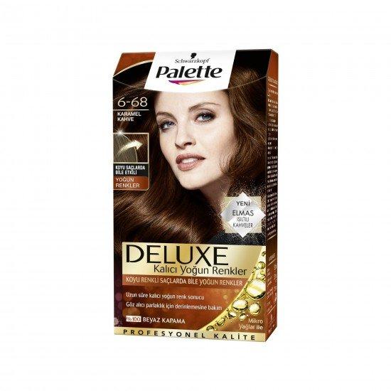 Palette Deluxe Yoğun Renkler Set Boya  6-68 Karamel Kahve