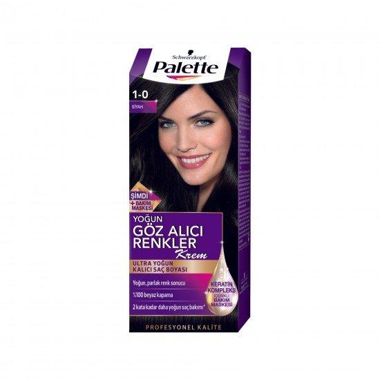 Palette Göz Alıcı Renkler Saç Boyası 1-0 Siyah