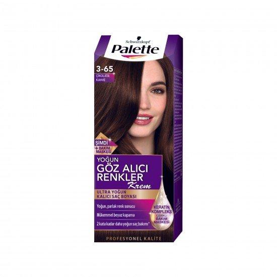 Palette Göz Alıcı Renkler Saç Boyası  3-65 Çikolata Kahve