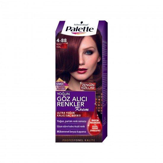 Palette Göz Alıcı Renkler Saç Boyası 4-88 Koyu Kızıl