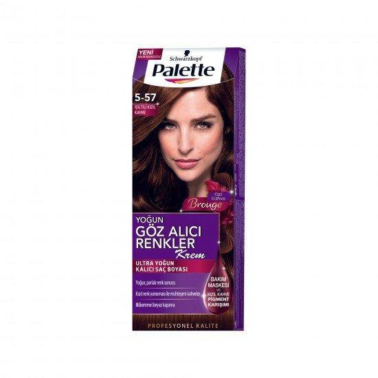 Palette Göz Alıcı Renkler Saç Boyası 5.57 Işıltılı Kızıl Kahve