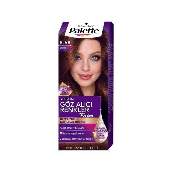 Palette Göz Alıcı Renkler Saç Boyası 5-68 Kestane