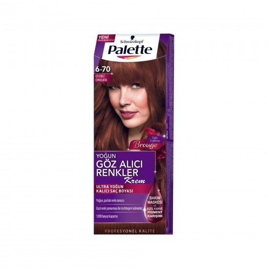 Palette Göz Alıcı Renkler Saç Boyası 6.70 Çilekli Çikolata