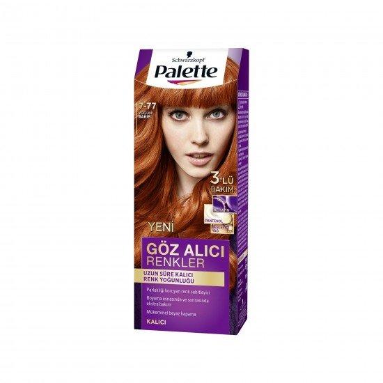 Palette Göz Alıcı Renkler Saç Boyası 7-77 Yoğun Bakır