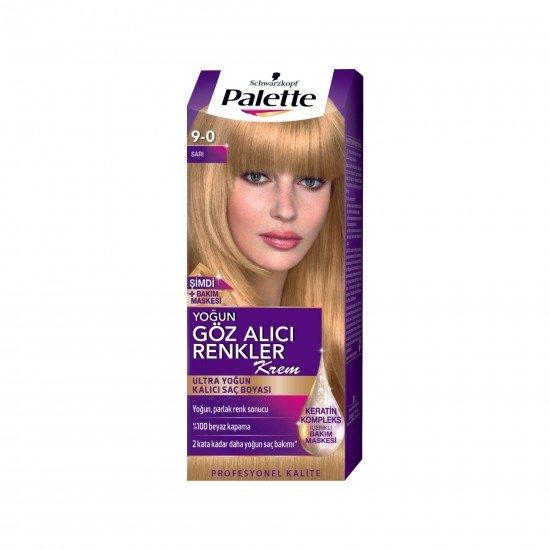 Palette Göz Alıcı Renkler Saç Boyası 9-0 Sarı