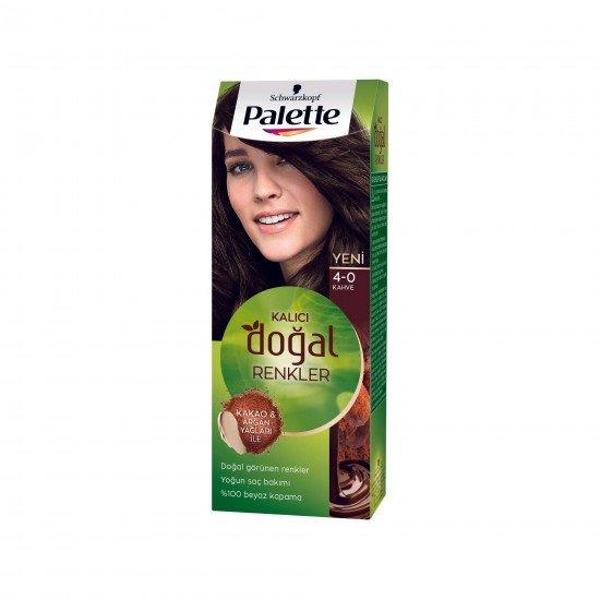 Palette Kalıcı Doğal Renkler Saç Boyası 4-0 Kahve