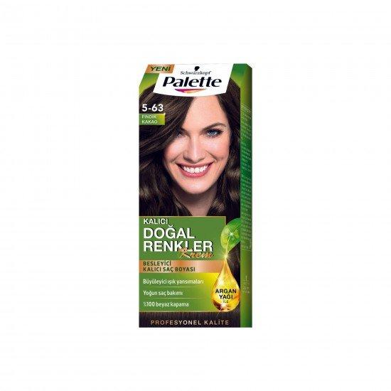 Palette Kalıcı Doğal Renkler Saç Boyası 5-63 Fındık Kakao