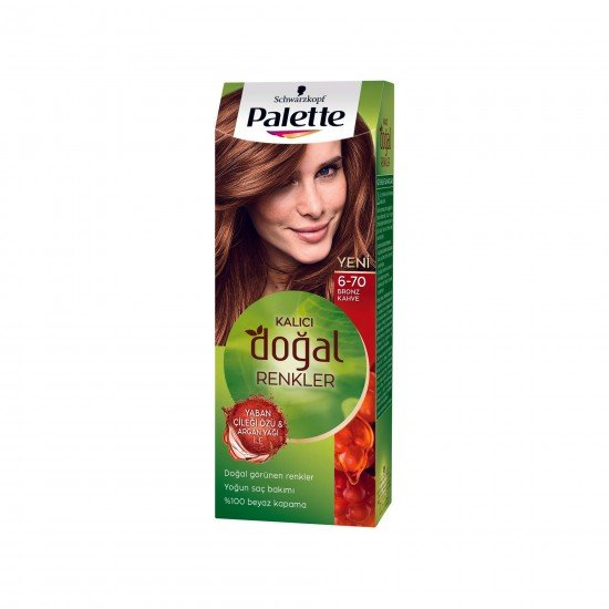 Palette Kalıcı Doğal Renkler Saç Boyası 6-70 Bronz Kahve