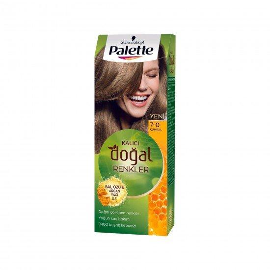 Palette Kalıcı Doğal Renkler Saç Boyası 7-0 Kumral