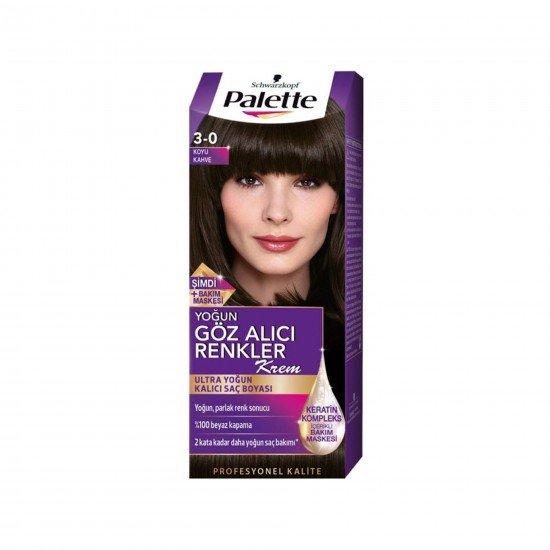 Palette Yoğun Göz Alıcı Renkler Saç Boyası 3-0 Koyu Kahve