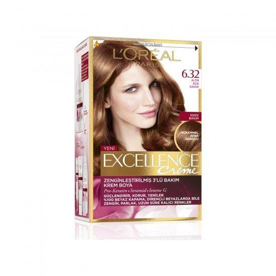 Paris Excellence Intense Saç Boyası 6.32 Altın Açık  Kahve