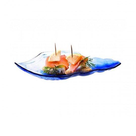 Paşabahçe 10654 Marine Batik Mavi Servis Tabağı 21 cm 2li