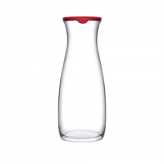 Paşabahçe Amphora 43813 Kırmızı Kapaklı Cam Karaf Sürahi 1000 Cc