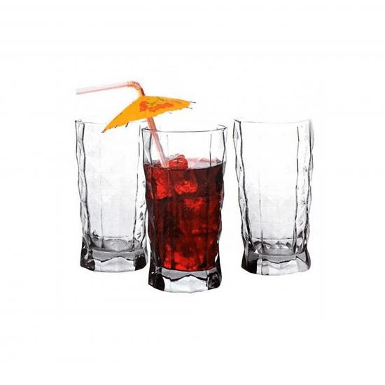Paşabahçe Prizma Meşrubat Bardağı 3lü 355cc (41794)