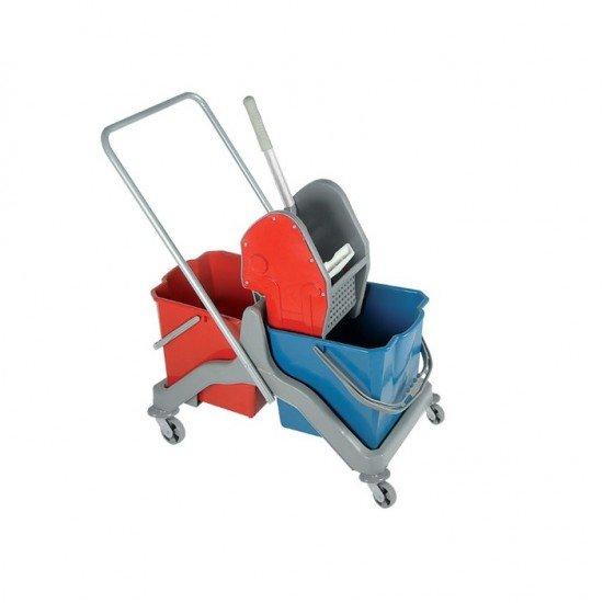 Plastik Çift Kovalı Temizlik Arabası Takım