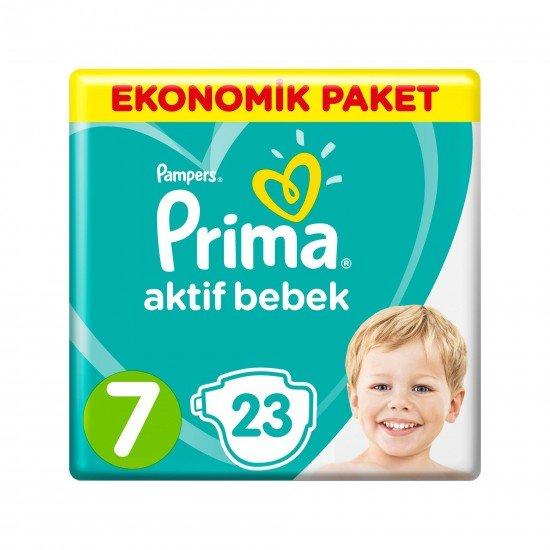 Prima Bebek Bezi Aktif Bebek 7 Beden 23 Adet XX Large Ekonomik Paket