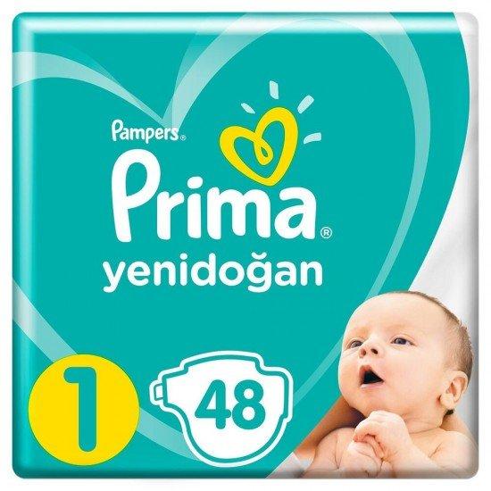 Prima Bebek Bezi Yeni Bebek 1 Beden 48 Adet Yenidoğan Ekonomik Paket