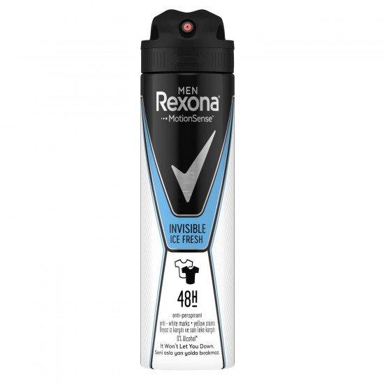 Rexona Invisible Ice Fresh Erkek Deodorant Sprey 150 Ml