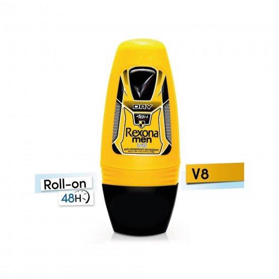 Rexona V8 Anti-Perspirant 48H Erkek Deodorant Roll-On 50 Ml