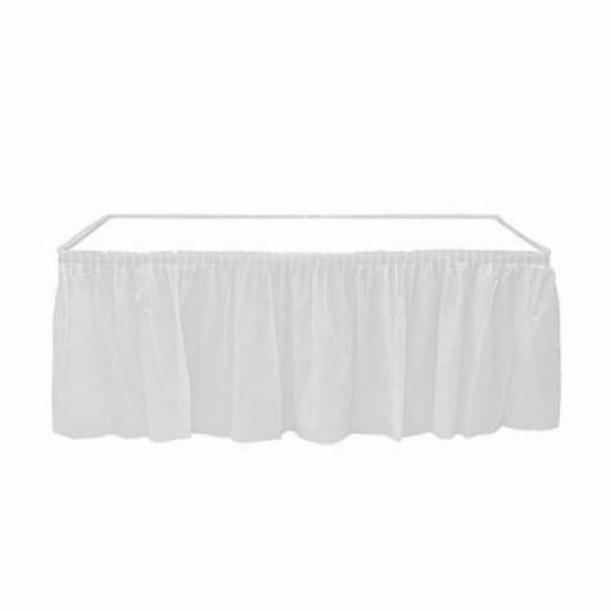 Roll-Up Beyaz Plastik Masa Eteği 75 x 426 Cm