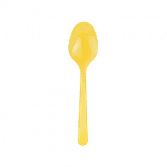 Roll-Up Plastik Kaşık Sarı 25li