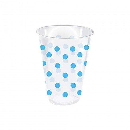 Roll-up Plastik Bardak Mavi Puantiyeli 25li