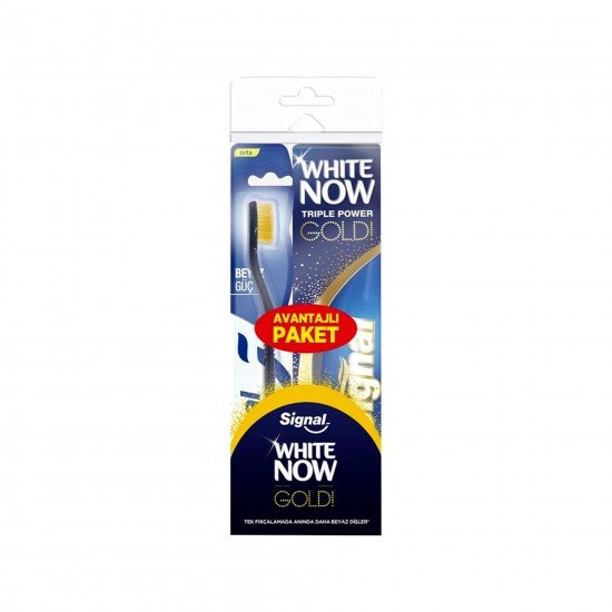 Signal White Now Gold Diş Macunu 75 ml + Fırça
