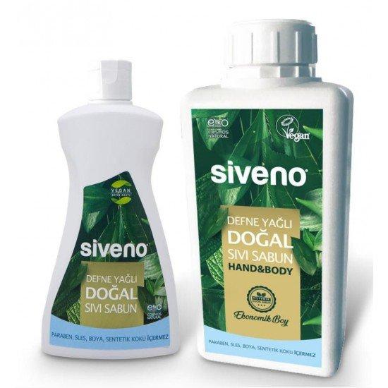 Siveno Defne Yağlı Doğal Sıvı Sabun 1000 ml + 300 Ml Hediye