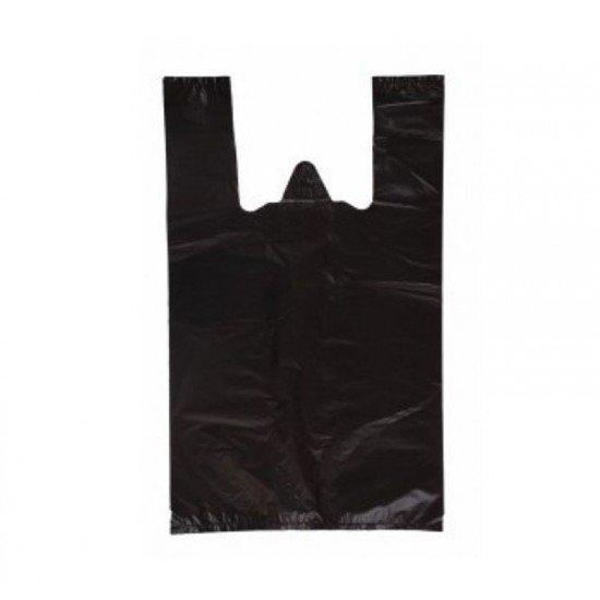 Siyah Atlet Market Poşeti Orta Boy 28x50 Cm 1 Kg