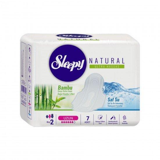 Sleepy Natural Ultra Hassas Hijyenik Ped Uzun 7 Adet