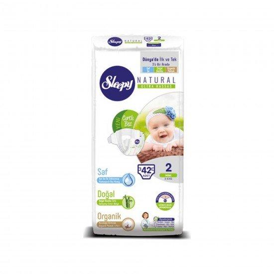 Sleepy Sensitive Bebek Bezi 2 Beden Mini Jumbo Paket (42 Adet)
