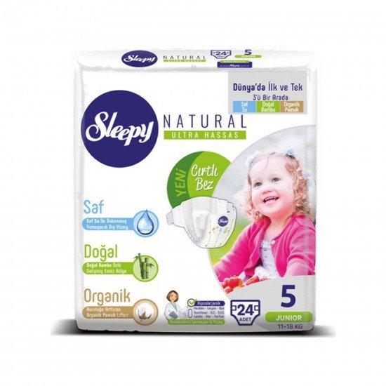 Sleepy Sensitive Bebek Bezi 5 Beden Junior Jumbo Paket ( 24 Adet)