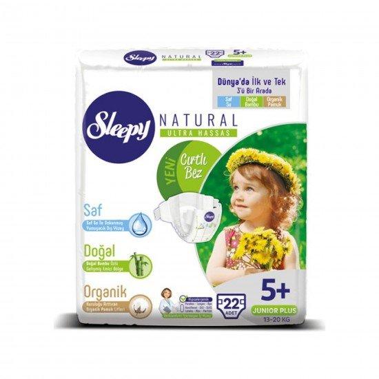 Sleepy Sensitive Bebek Bezi 5+ Beden Junior Plus Jumbo Paket (22 Adet)
