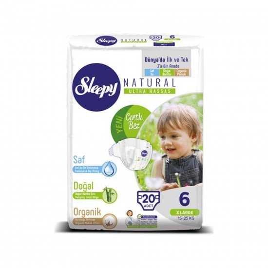 Sleepy Sensitive Bebek Bezi 6 Beden XL Jumbo Paket (20 Adet)