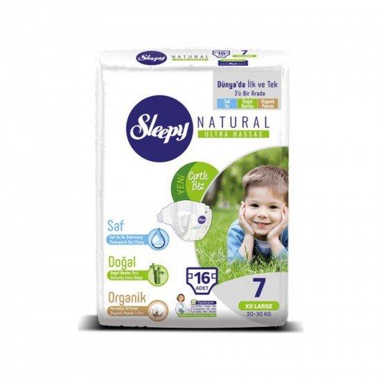 Sleepy Sensitive Bebek Bezi 7 Beden XXL Jumbo Paket 16lı