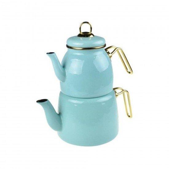 Taşev Miray Emaye Çaydanlık Takımı - Yeşil