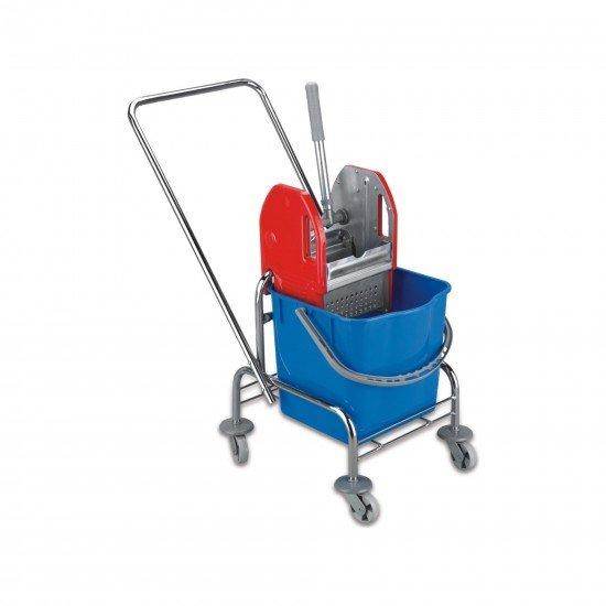 Tek Kovalı Metal Presli Krom Taşıyıcılı Temizlik Seti 25 Lt
