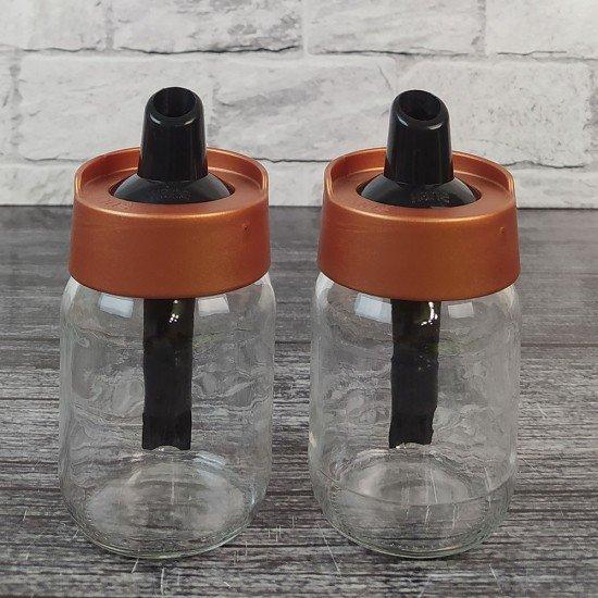 Toz Şekerlik Cam Plastik Kapak
