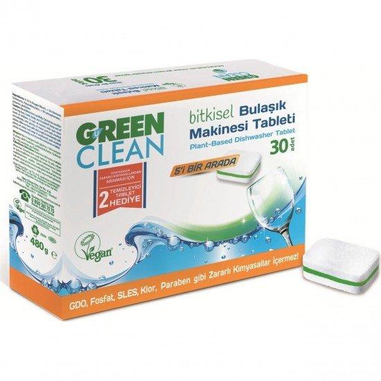 U Green Clean Bitkisel Bulaşık Makinesi Tableti 30lu