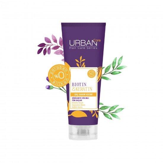 Urban Care Biotin&Keratin İçeren Dökülme Karşıtı & Sağlıklı Uzamaya Yardımcı Saç Kremi 250 ml