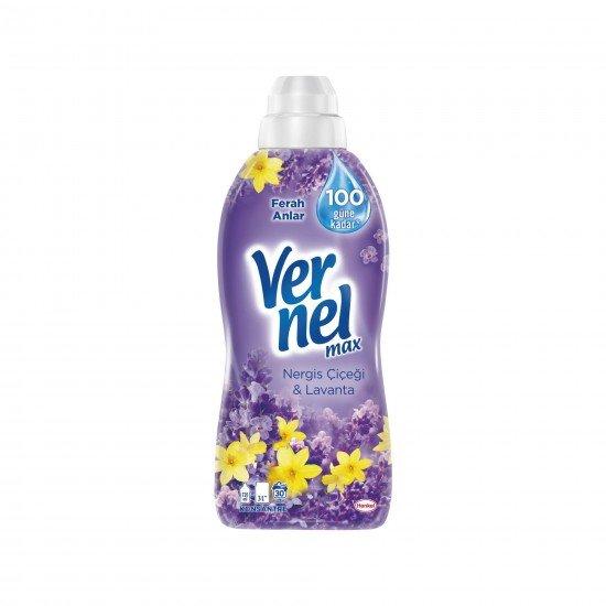 Vernel Max Konsantre Çamaşır Yumuşatıcısı Nergiz Çiçeği&Lavanta 30 Yıkama 720 ML