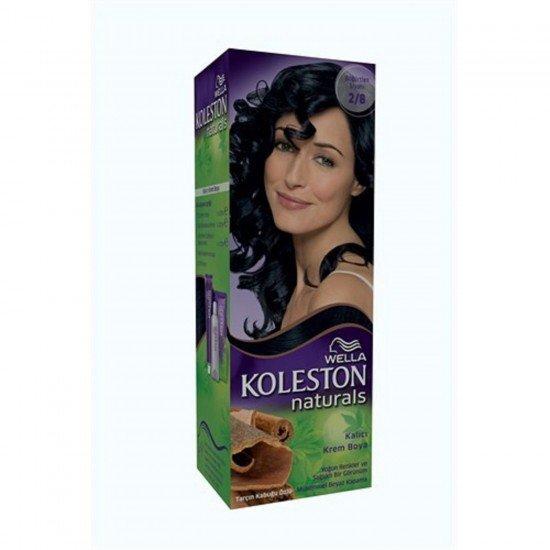 Wella KolestWella on Naturals Saç Boyası 2/8 Böğürtlen Siyahı