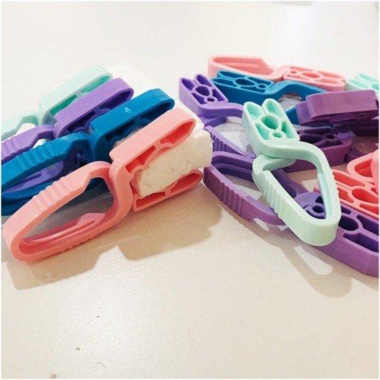 Zambak Plastik Çamaşır Mandalı Yaysız 15li